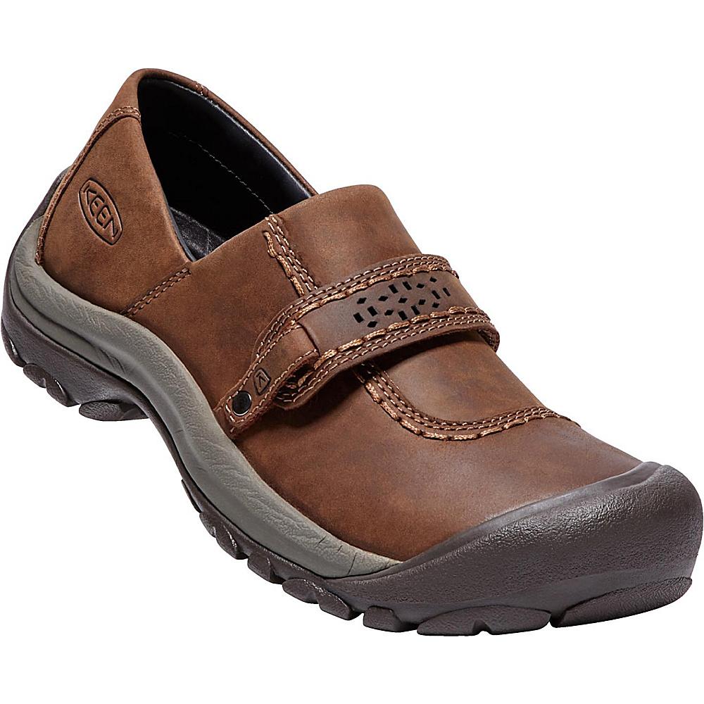 KEEN Womens Kaci Full-Grain Slip-On 9 - Tortoise Shell/Mulch - KEEN Womens Footwear - Apparel & Footwear, Women's Footwear