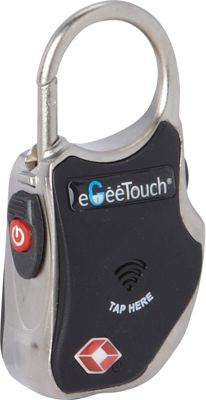 eGeeTouch Smart Travel Padlock Black - eGeeTouch Luggage Accessories