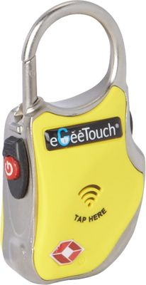 eGeeTouch Smart Travel Padlock Yellow - eGeeTouch Luggage Accessories