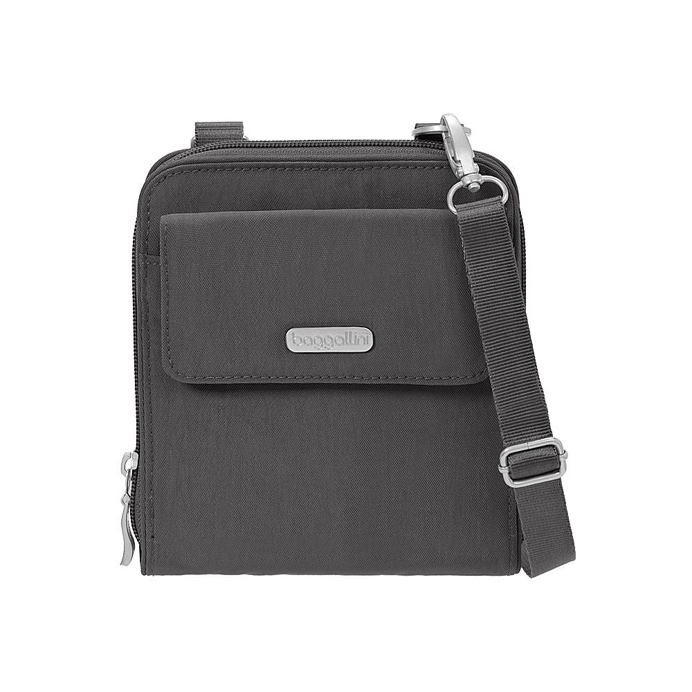 baggallini Travel Passport Crossbody Charcoal - baggallini Fabric Handbags - Handbags, Fabric Handbags