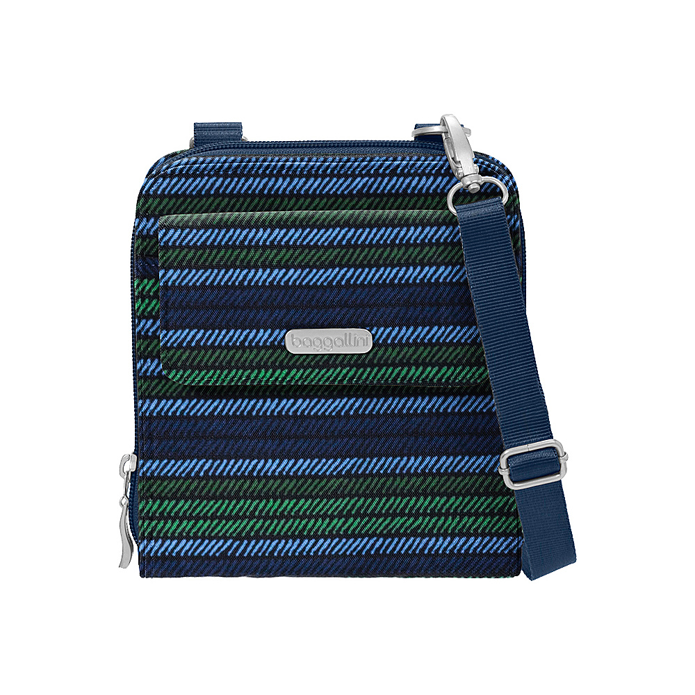 baggallini Travel Passport Crossbody Moss Stripe - baggallini Fabric Handbags - Handbags, Fabric Handbags