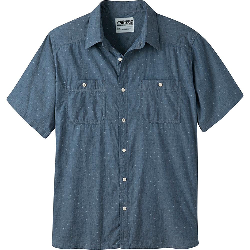 Mountain Khakis Ace Indigo Short Sleeve Shirt L - Polkadobby - Mountain Khakis Mens Apparel - Apparel & Footwear, Men's Apparel