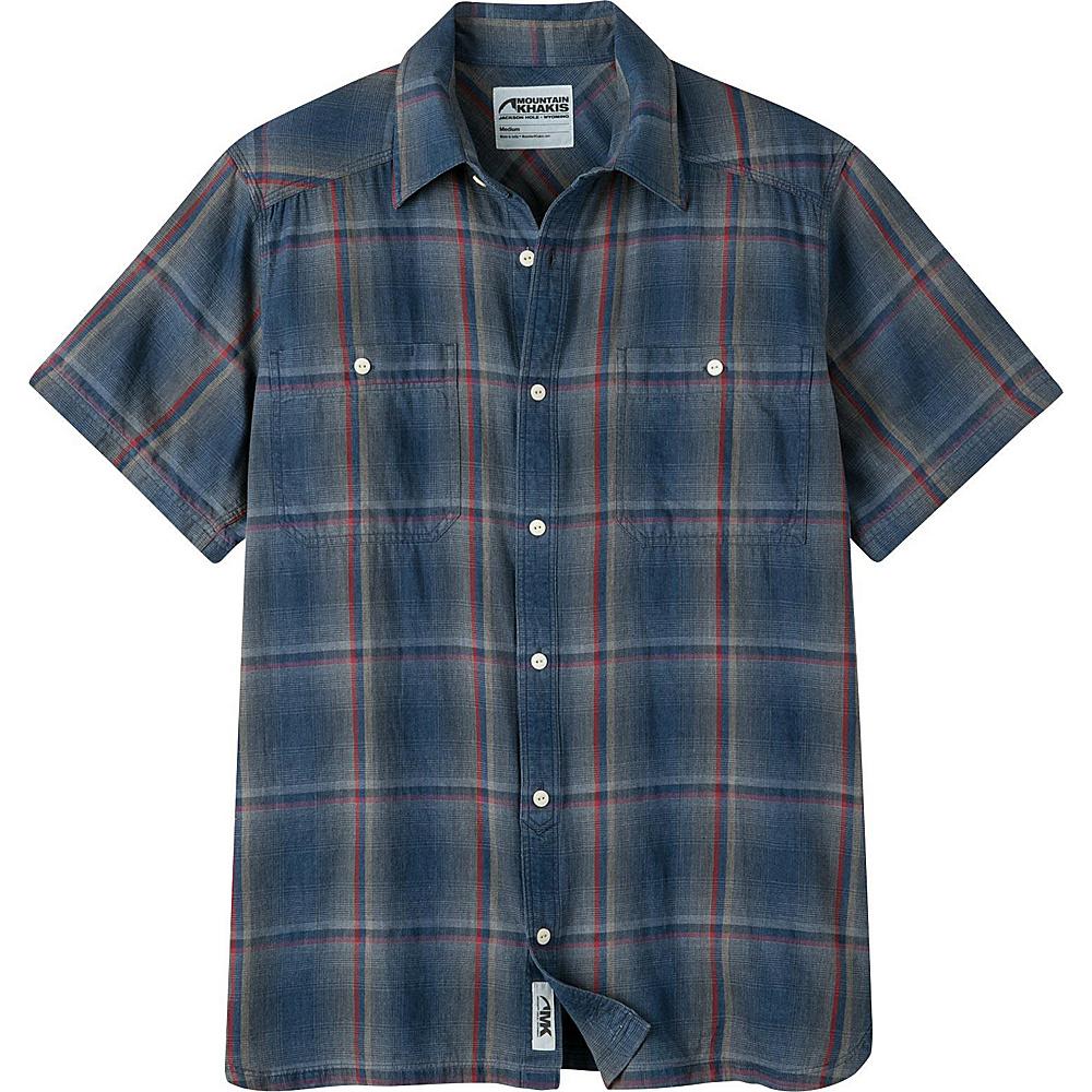 Mountain Khakis Ace Indigo Short Sleeve Shirt L - Indigo Plaid - Mountain Khakis Mens Apparel - Apparel & Footwear, Men's Apparel