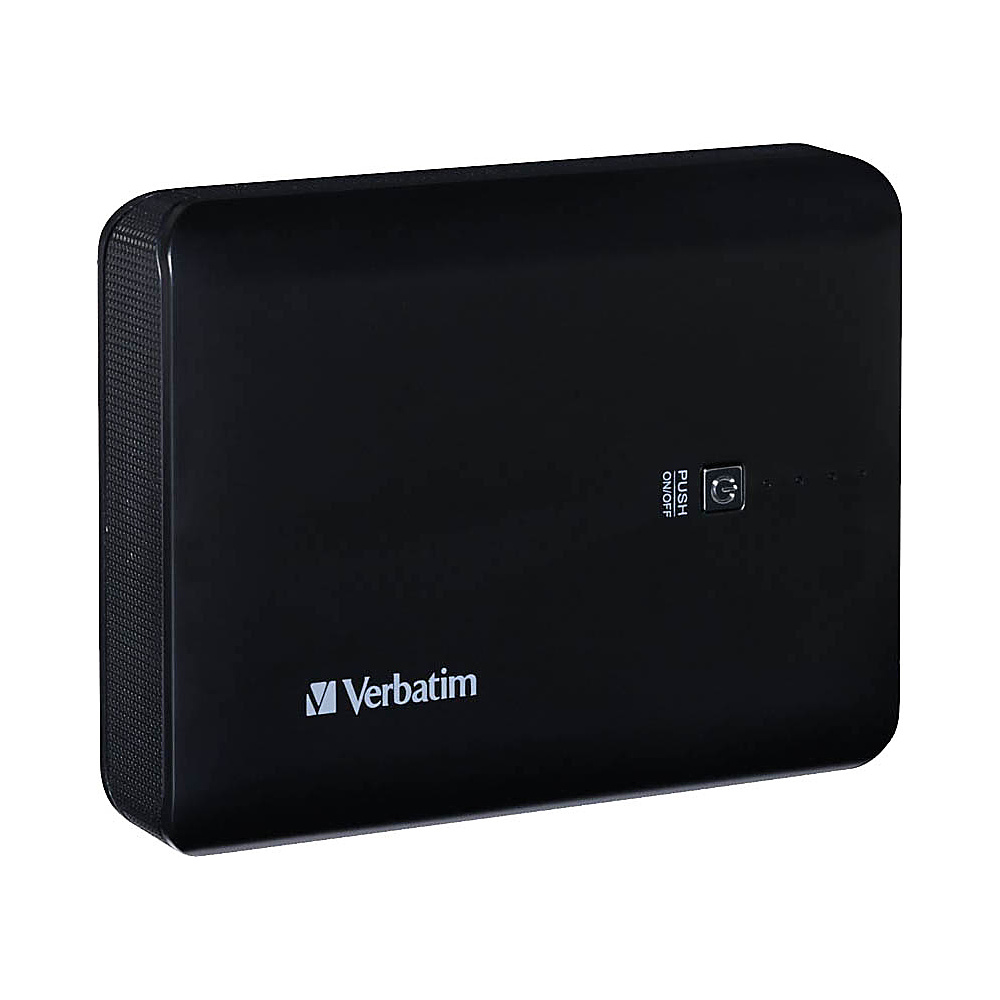Verbatim Dual USB Power Pack 10400mAh 99208 Black Verbatim Portable Batteries Chargers