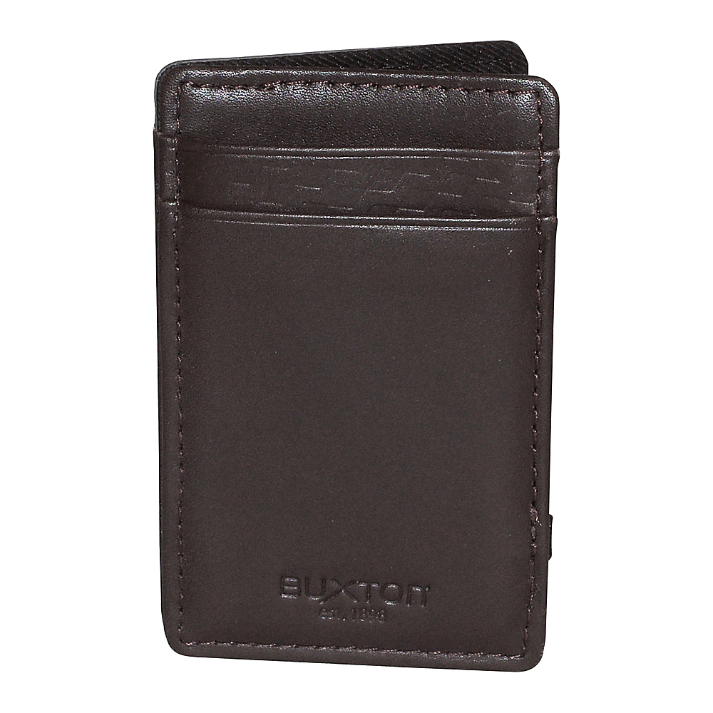 Buxton Bellamy RFID I.D. Magic Wallet Brown - Buxton Mens Wallets - Work Bags & Briefcases, Men's Wallets