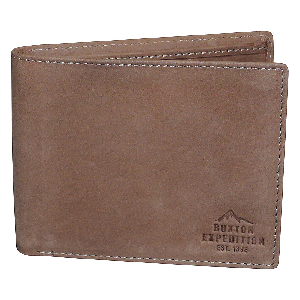 Buxton Expedition II RFID Slimfold Saddle - Buxton Mens Wallets - Work Bags & Briefcases, Men's Wallets