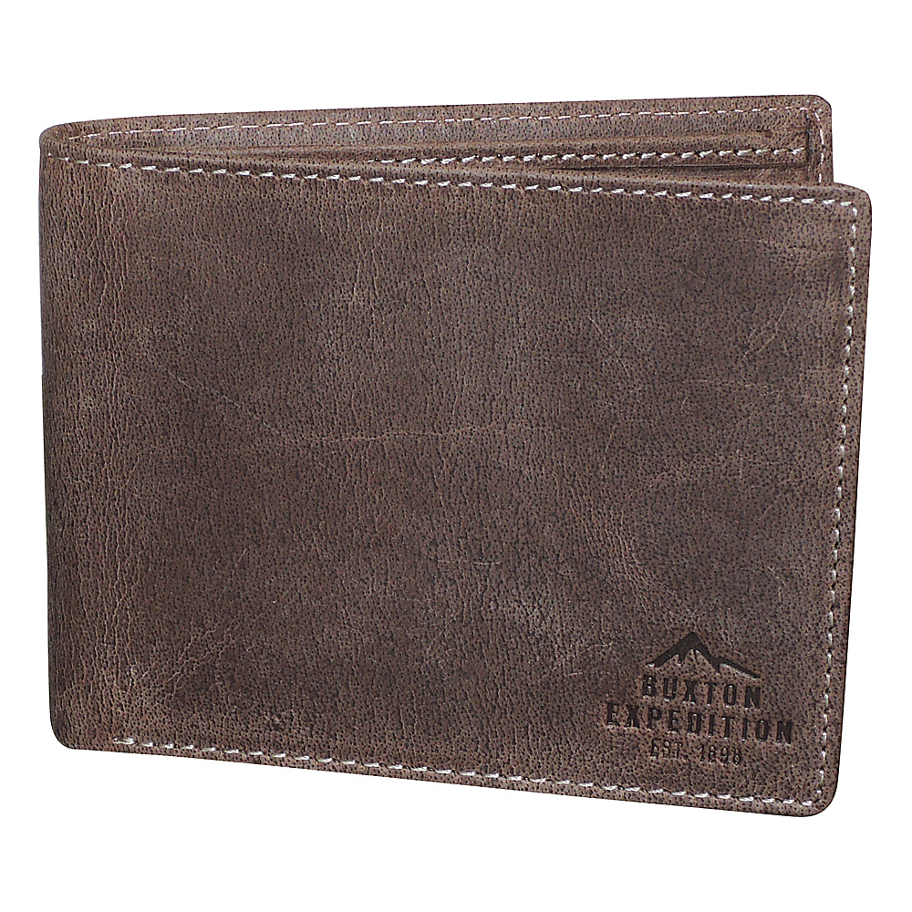 Buxton Expedition II RFID Slimfold Walnut - Buxton Mens Wallets - Work Bags & Briefcases, Men's Wallets