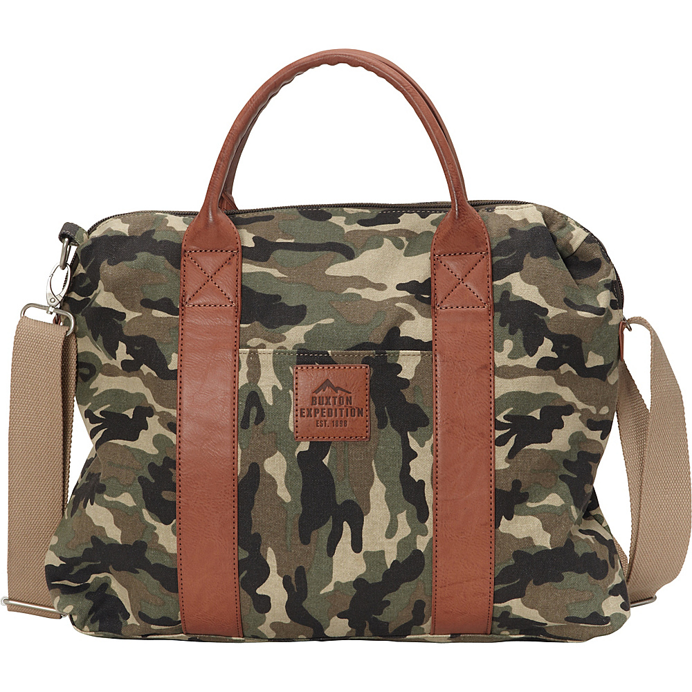 Buxton Expedition II Huntington Gear Laptop Briefcase Camouflage - Buxton Non-Wheeled Business Cases - Work Bags & Briefcases, Non-Wheeled Business Cases