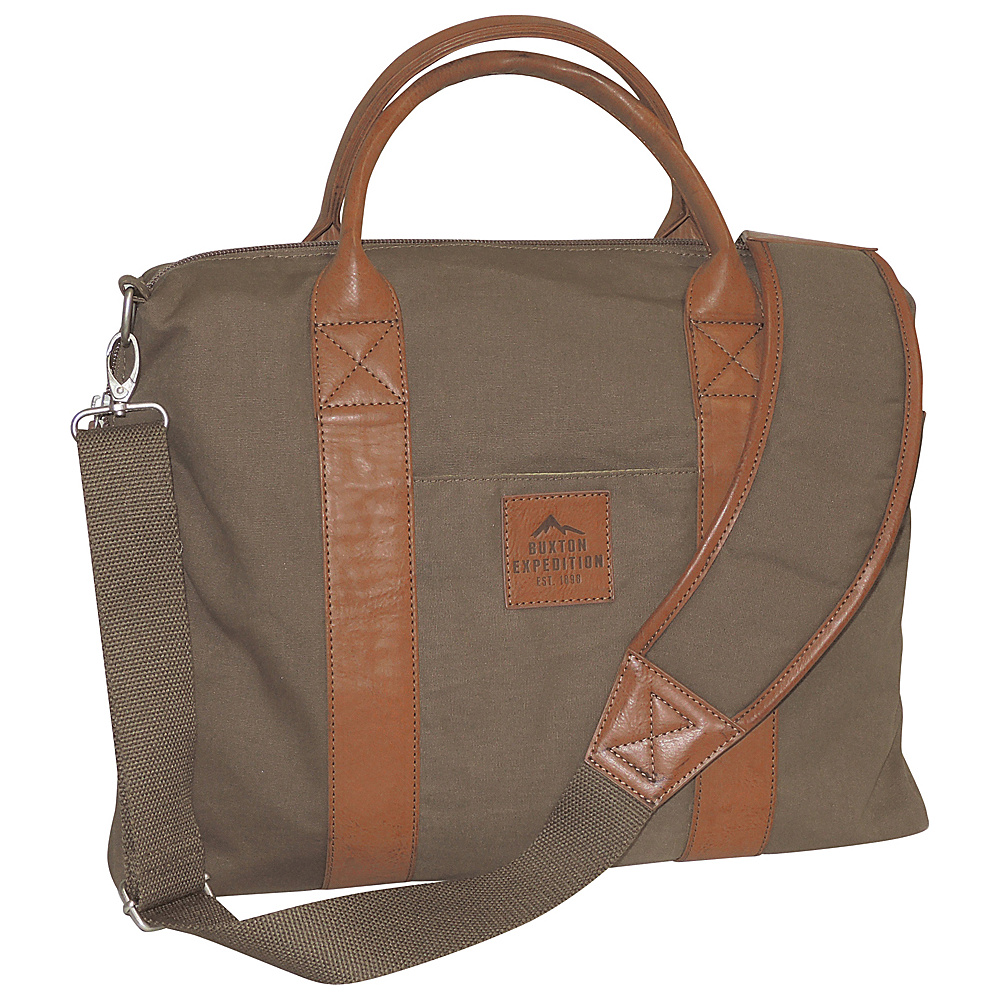 Buxton Expedition II Huntington Gear Laptop Briefcase Olive - Buxton Non-Wheeled Business Cases - Work Bags & Briefcases, Non-Wheeled Business Cases