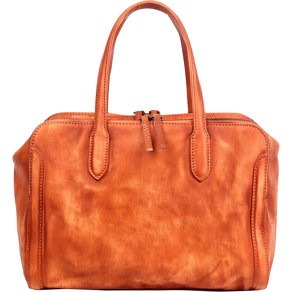 Old Trend Spring Meadow Satchel Cognac Old Trend Leather Handbags