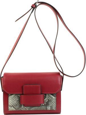 Emilie M Allie Crossbody Beet Python - Emilie M Leather Handbags