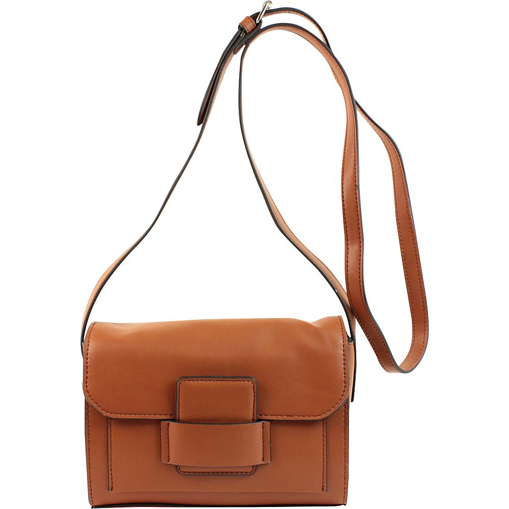Emilie M Allie Crossbody Cognac Emilie M Manmade Handbags
