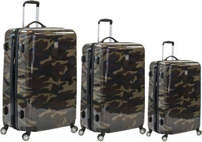 ful Ridgeline 3 Piece Spinner Luggage Set Camo - ful Luggage Sets