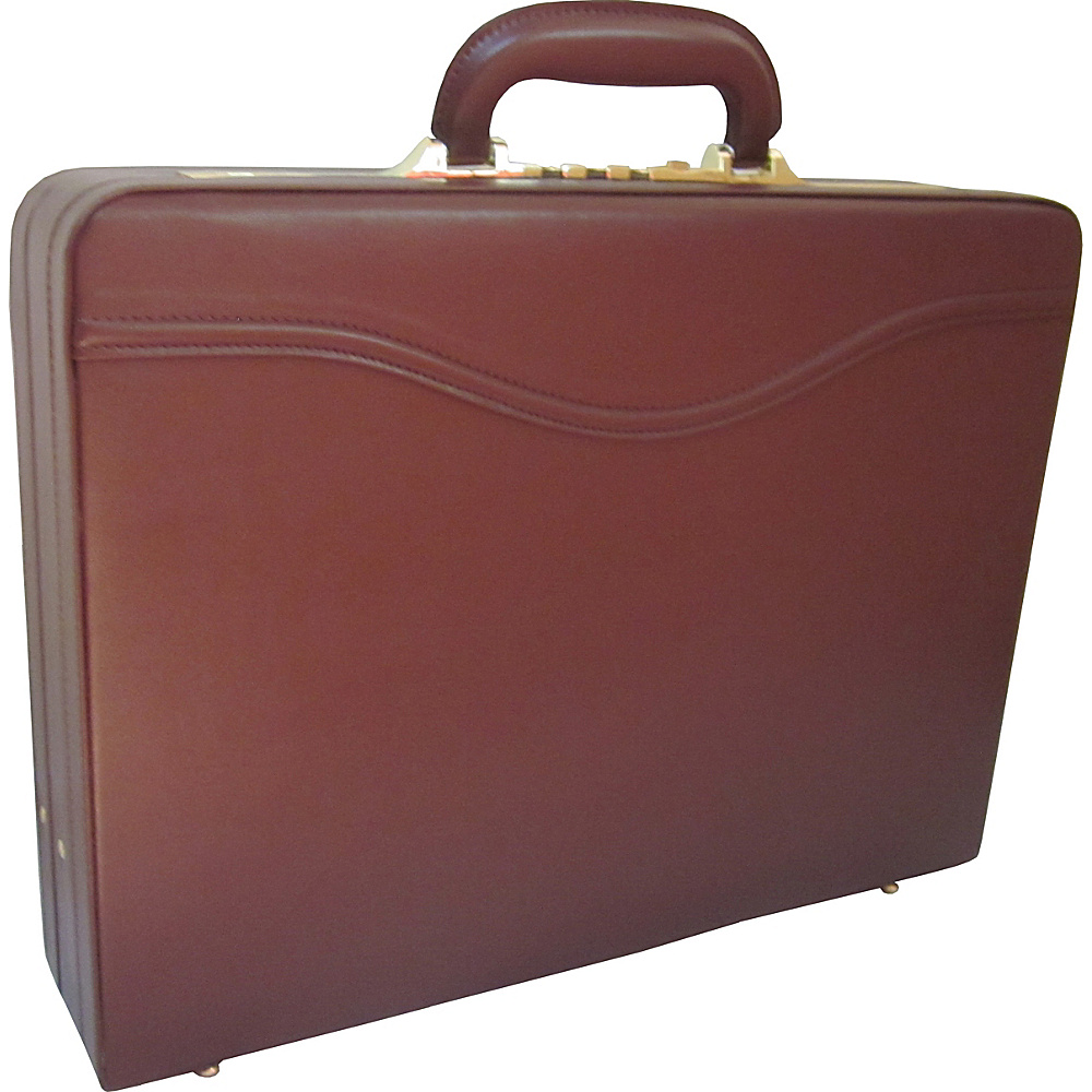 AmeriLeather Auden Executive Attache Case Brown - AmeriLeather Non-Wheeled Business Cases - Work Bags & Briefcases, Non-Wheeled Business Cases