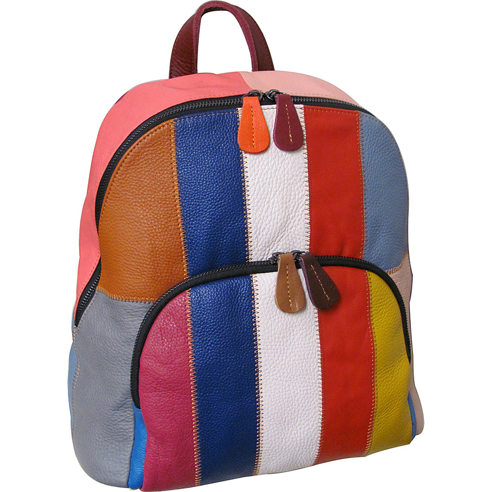 AmeriLeather Chloe Leather Backpack Rainbow - AmeriLeather Leather Handbags - Handbags, Leather Handbags