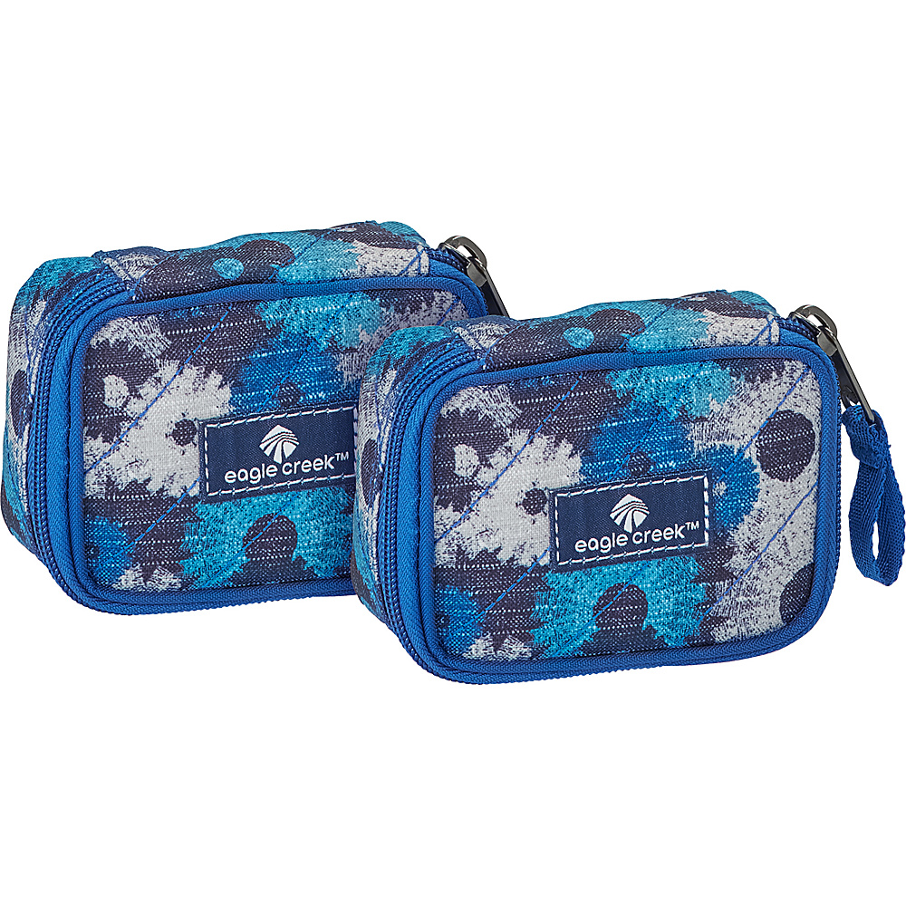 Eagle Creek Pack-It OriginalQuilted Mini Cube Set Daisy Chain Blue - Eagle Creek Travel Organizers - Travel Accessories, Travel Organizers
