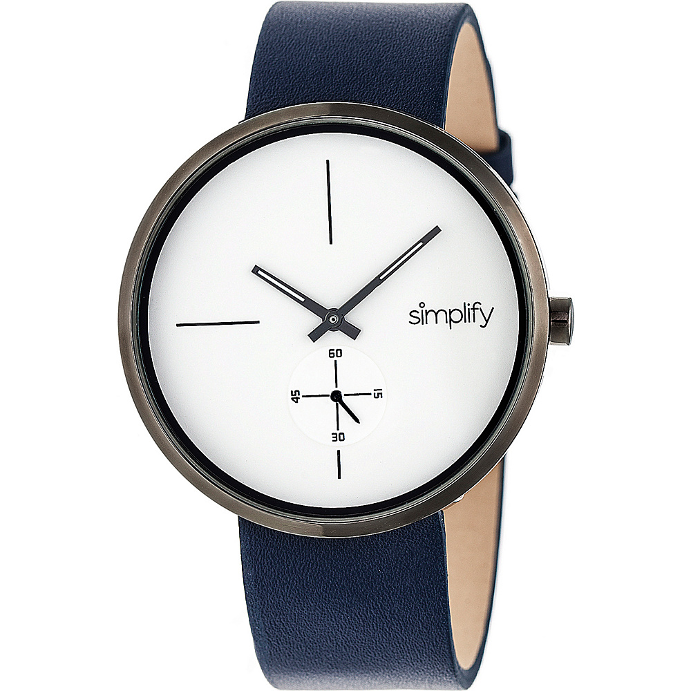 Simplify The 4400 Unisex Watch Navy/Gunmetal/White - Simplify Watches