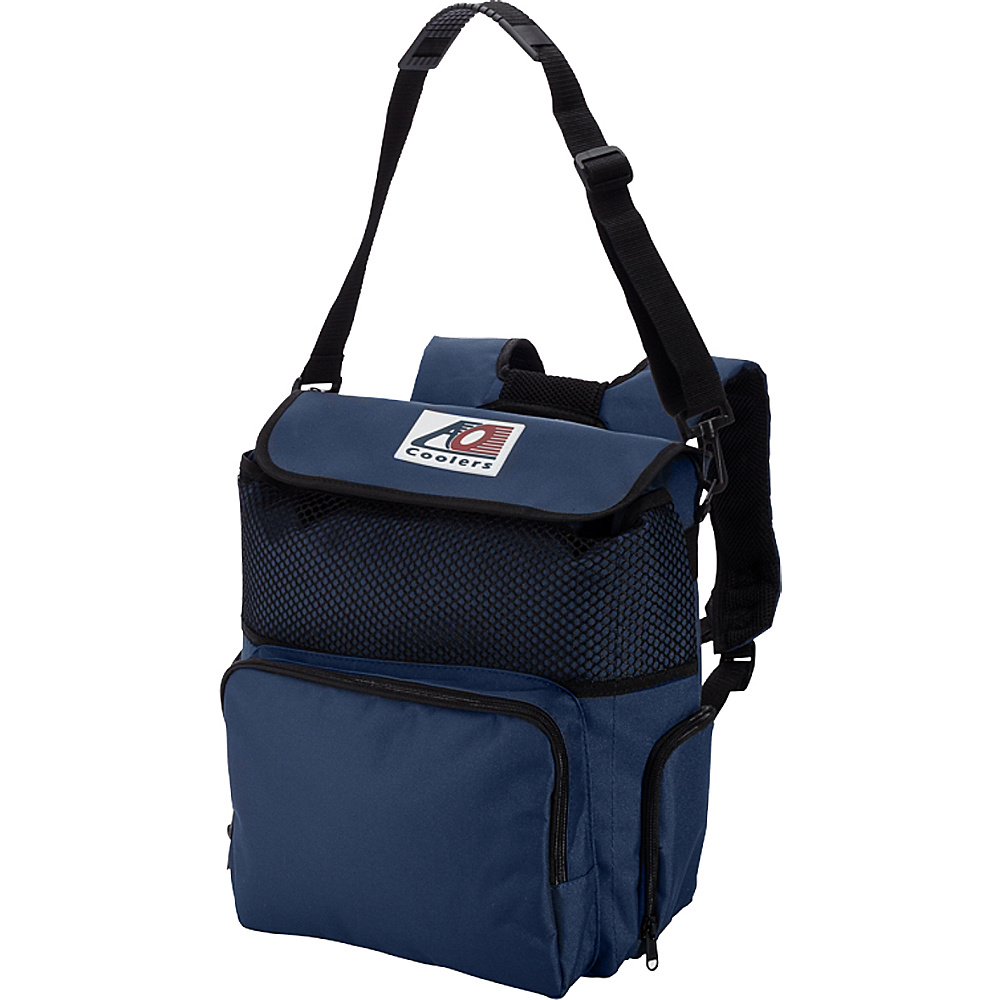 AO Coolers 18 Pack Backpack Soft Cooler Navy Blue AO Coolers Outdoor Coolers