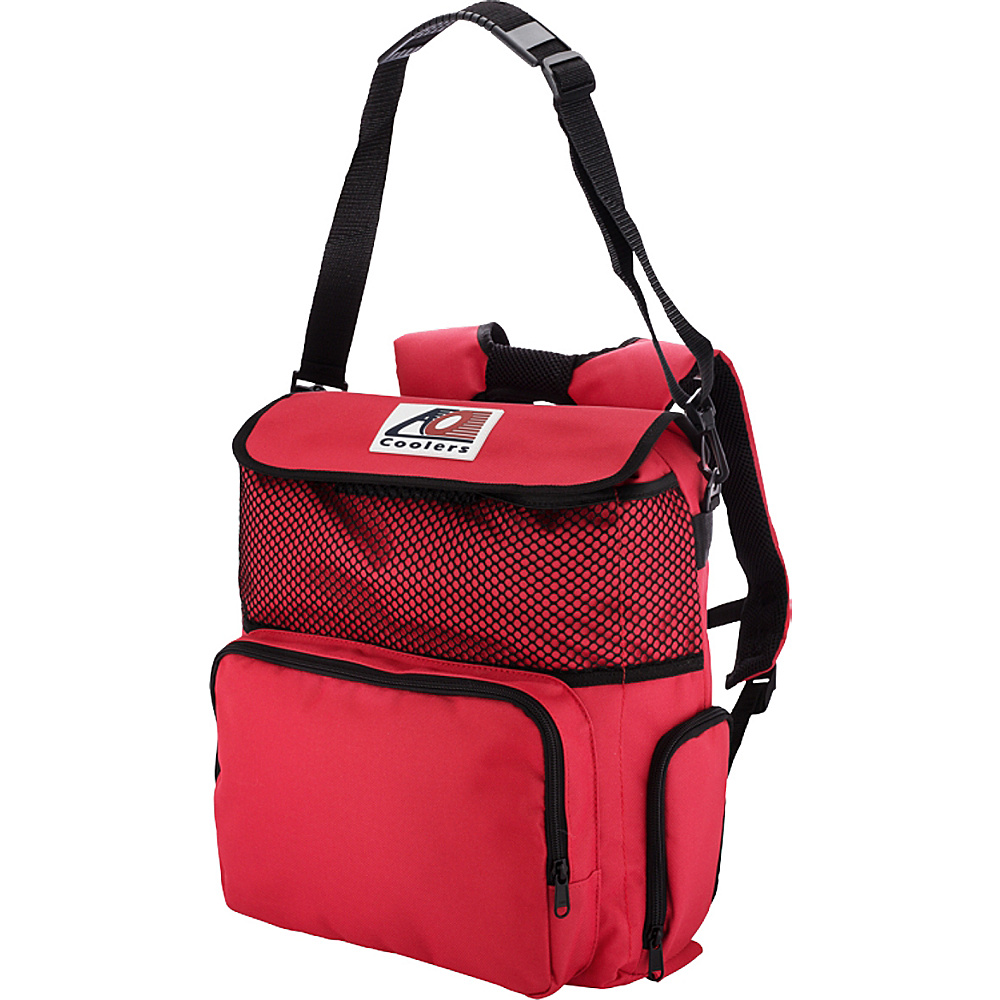 AO Coolers 18 Pack Backpack Soft Cooler Red AO Coolers Outdoor Coolers