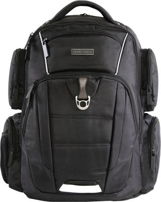Perry Ellis M350 Executive Collection Business Laptop Backpack Black - Perry Ellis Business & Laptop Backpacks