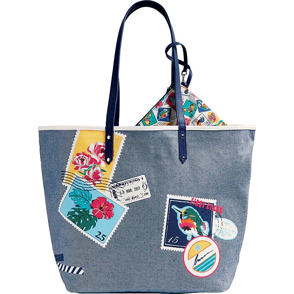Vera Bradley Beach Tote Oxford Postage Stamps - Vera Bradley Fabric Handbags - Handbags, Fabric Handbags