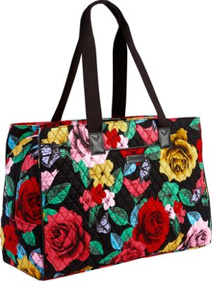 Vera Bradley Keep Charged Triple Compartment Bag Havana Rose - Vera Bradley Fabric Handbags