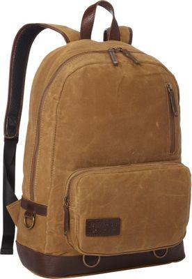 BENRUS Rucksack Backpack Khaki And Cognac - BENRUS Business & Laptop Backpacks