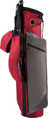 Wellzher Quantum Lite Collapsible Sunday Golf Bag Burgundy - Wellzher Golf Bags