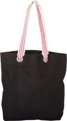 Shorebags Ribbon Shopper Tote Black