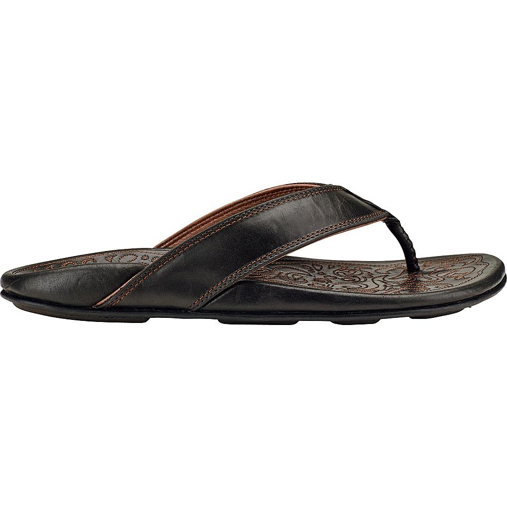 OluKai Mens Waimea Sandal 13 - Black/Black - OluKai Mens Footwear - Apparel & Footwear, Men's Footwear