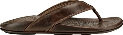 OluKai Mens Waimea Sandal 7 - Dark Wood/Dark Wood - OluKai Men's Footwear