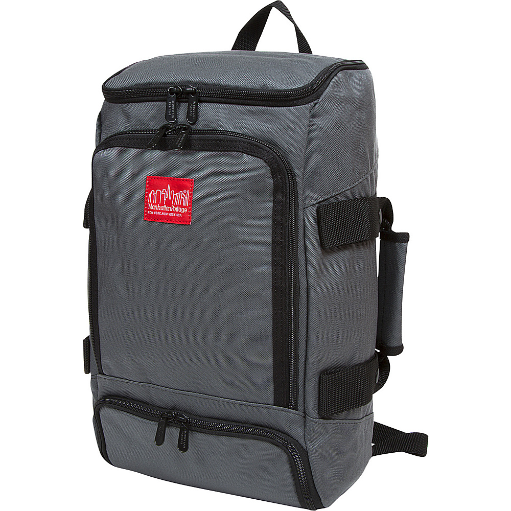 Manhattan Portage Ludlow Convertible Backpack Jr Gray - Manhattan Portage Everyday Backpacks - Backpacks, Everyday Backpacks