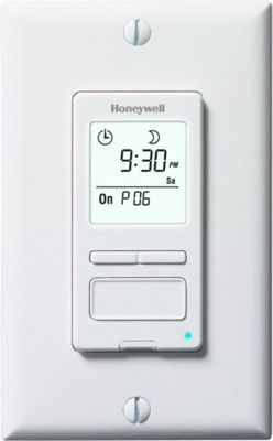 Honeywell Honeywell ECONOSwitch Programmable Light Switch Timer White - Honeywell Smart Home Automation