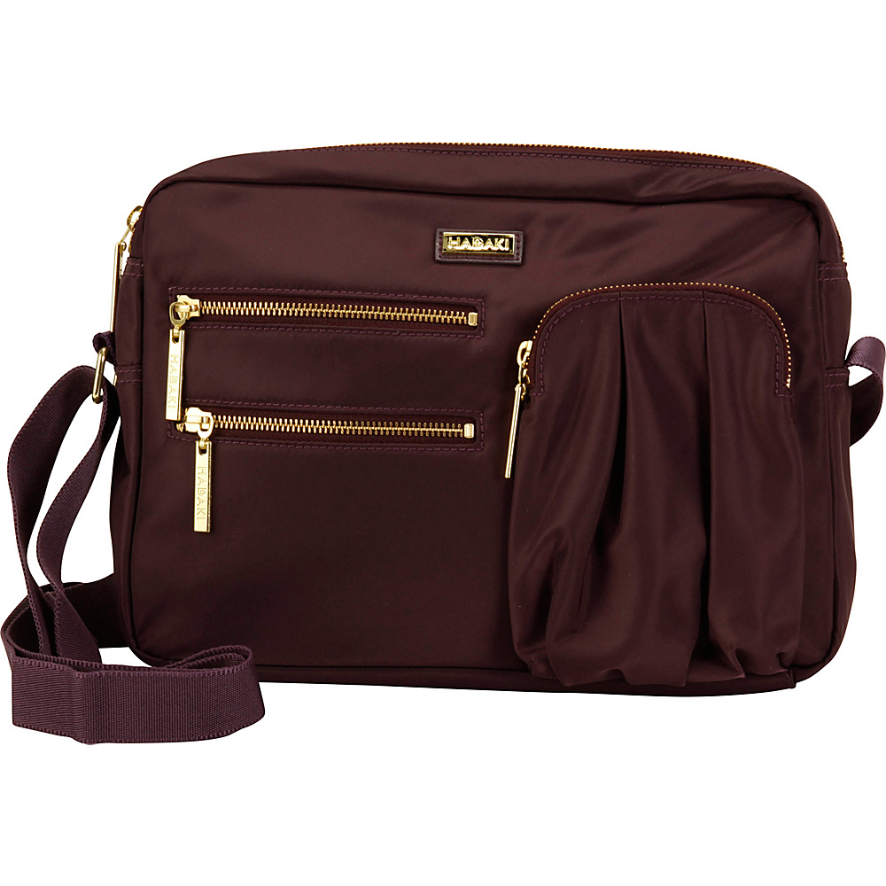 Hadaki Uptown Crossbody Plum Perfect Solid - Hadaki Fabric Handbags - Handbags, Fabric Handbags