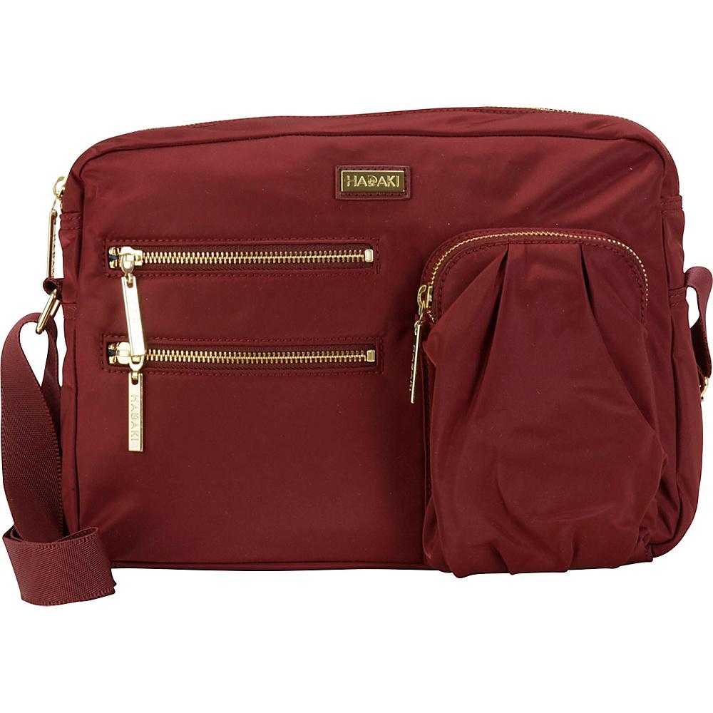 Hadaki Uptown Crossbody Wine - Hadaki Fabric Handbags - Handbags, Fabric Handbags