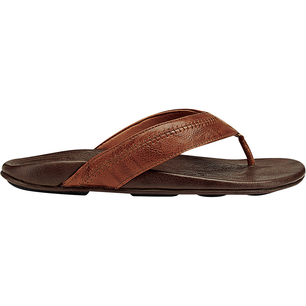 OluKai Mens Hiapo Sandal 8 - Rum/Dark Java - OluKai Mens Footwear - Apparel & Footwear, Men's Footwear