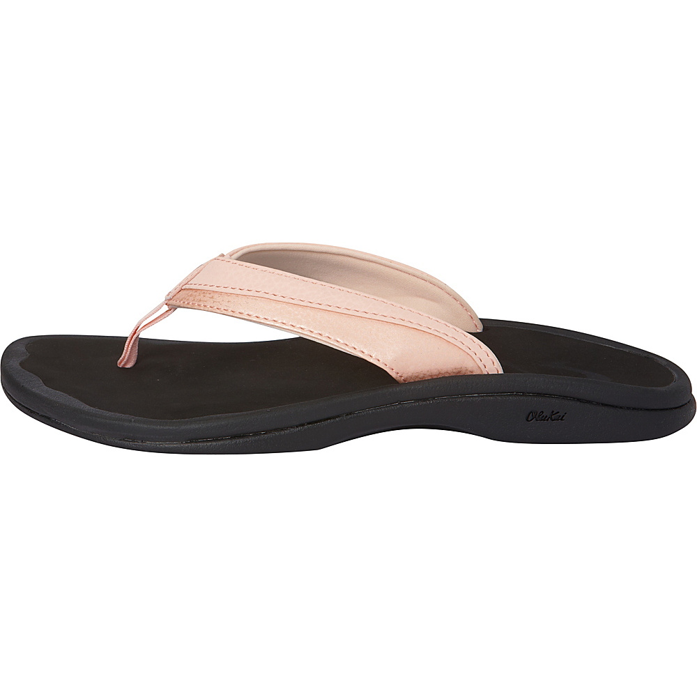 OluKai Womens Ohana Sandal 11 - Pearl Blush/Black - OluKai Womens Footwear - Apparel & Footwear, Women's Footwear