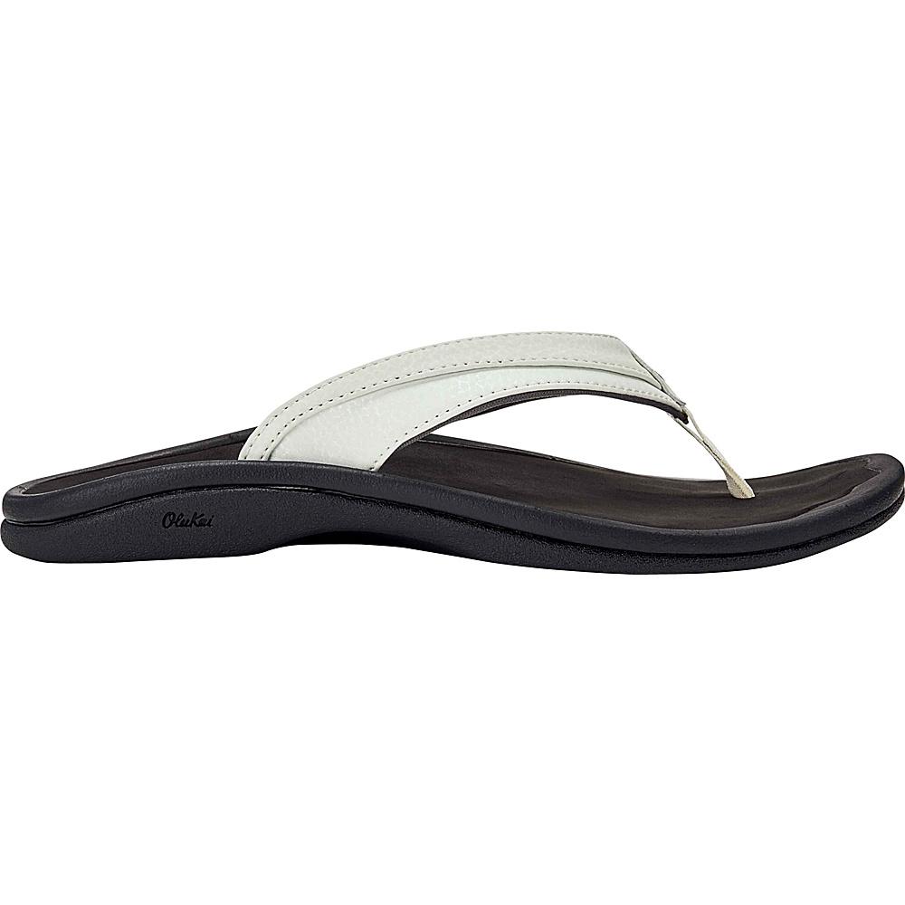 OluKai Womens Ohana Sandal 5 - White/Black - OluKai Womens Footwear - Apparel & Footwear, Women's Footwear