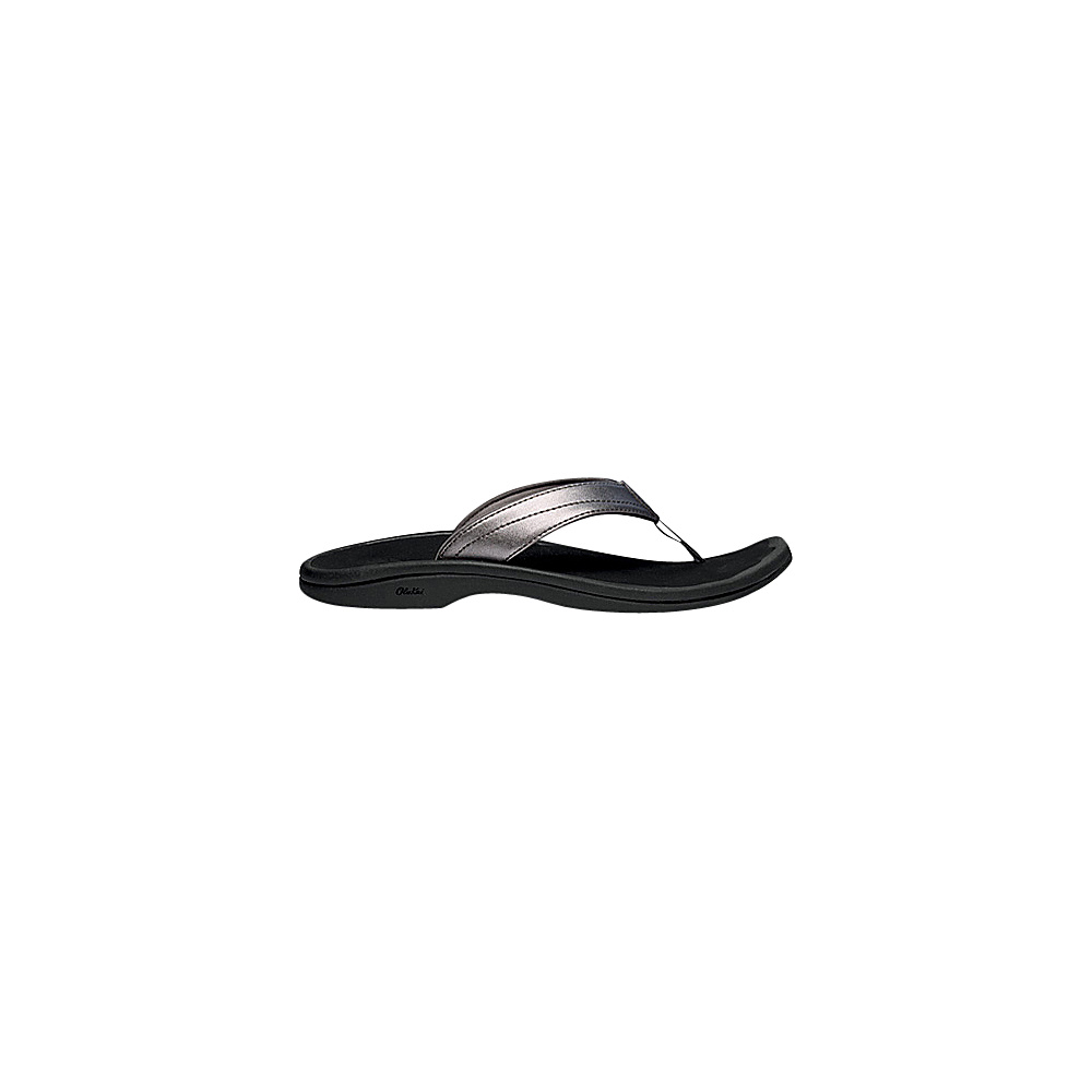 OluKai Womens Ohana Sandal 7 - Pewter/Black - OluKai Womens Footwear - Apparel & Footwear, Women's Footwear