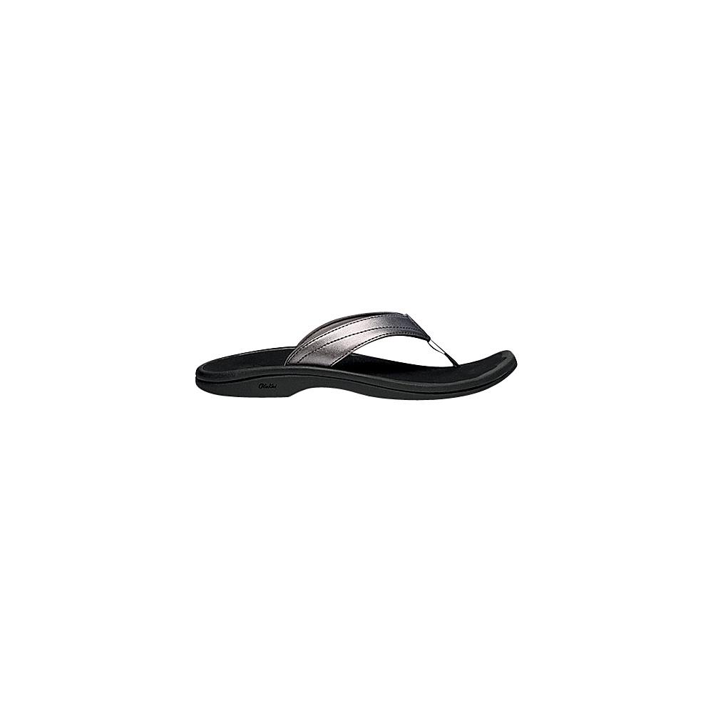 OluKai Womens Ohana Sandal 12 - Pewter/Black - OluKai Womens Footwear - Apparel & Footwear, Women's Footwear