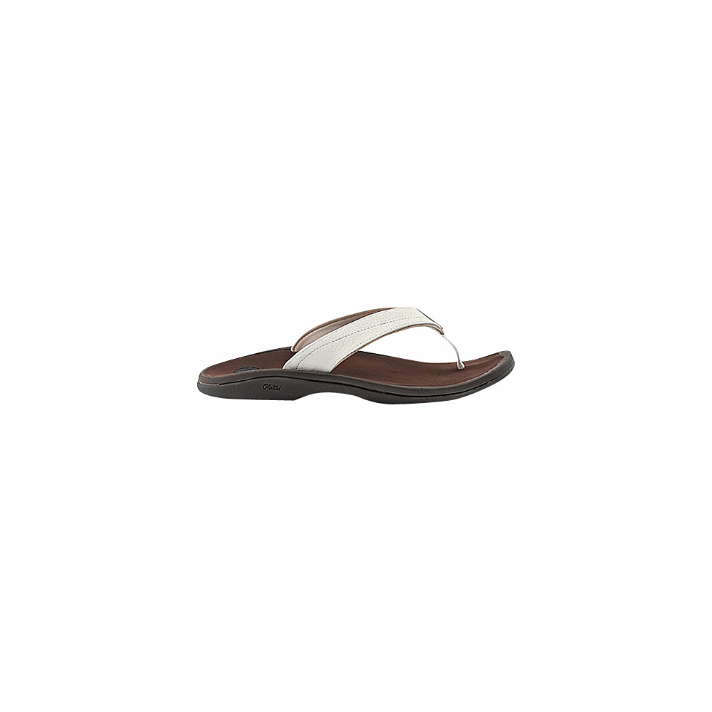 OluKai Womens Ohana Sandal 9 - White/Dark Java - OluKai Womens Footwear - Apparel & Footwear, Women's Footwear