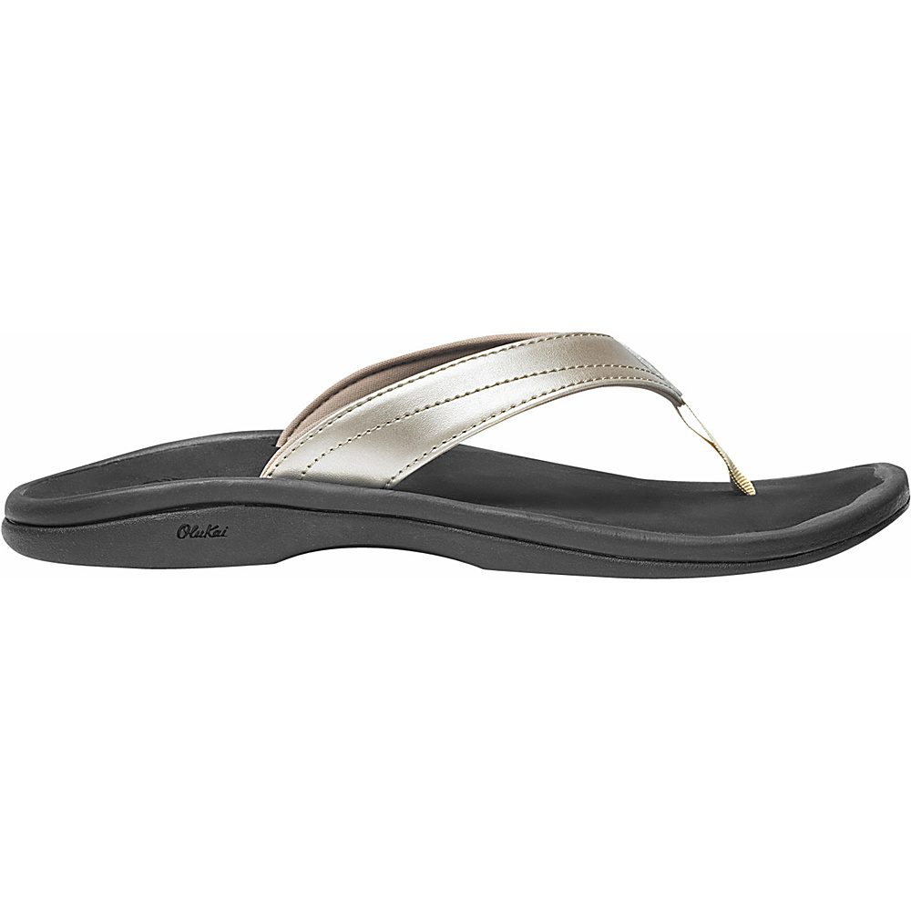 OluKai Womens Ohana Sandal 9 - Bubbly/Black - OluKai Womens Footwear - Apparel & Footwear, Women's Footwear