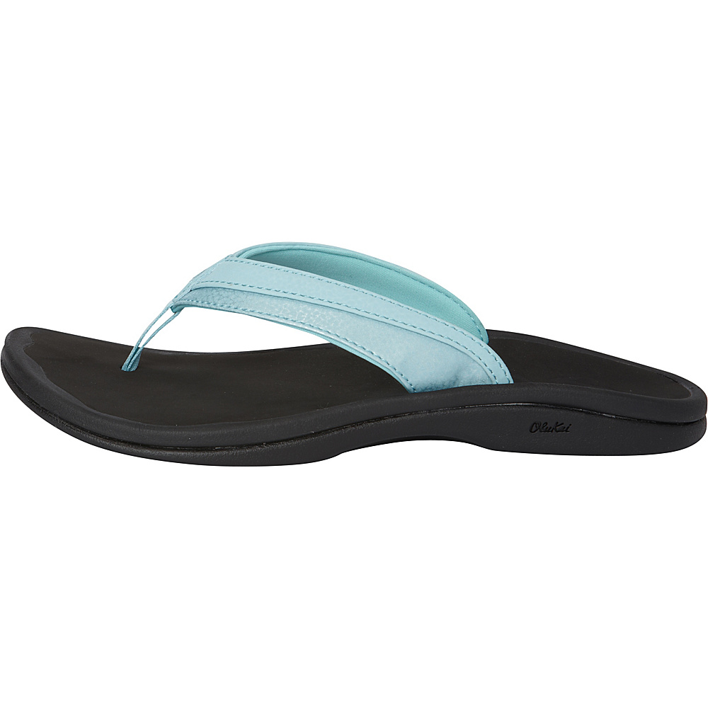 OluKai Womens Ohana Sandal 11 - Sea Glass/Black - OluKai Womens Footwear - Apparel & Footwear, Women's Footwear