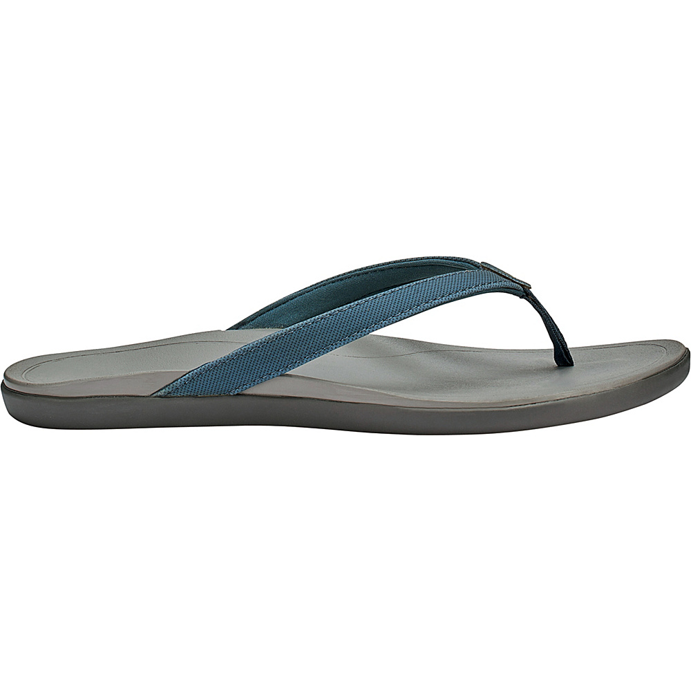OluKai Womens HoOpio Sandal 5 - Stormy Blue/Cooler Grey - OluKai Womens Footwear - Apparel & Footwear, Women's Footwear