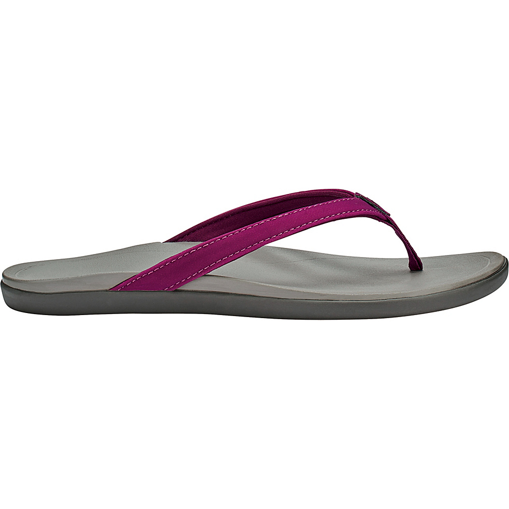 OluKai Womens HoOpio Sandal 5 - Magenta Purple/Cooler Grey - OluKai Womens Footwear - Apparel & Footwear, Women's Footwear
