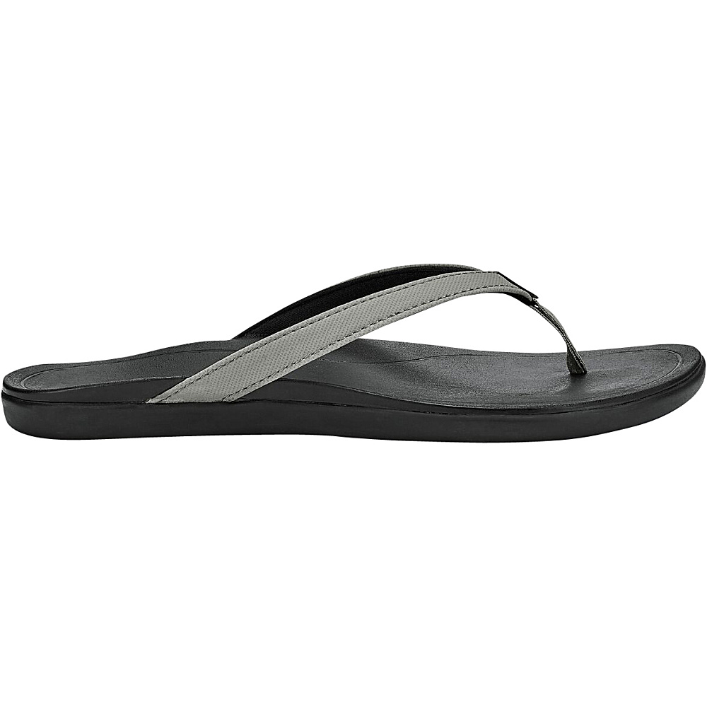 OluKai Womens HoOpio Sandal 5 - Cooler Grey/Black - OluKai Womens Footwear - Apparel & Footwear, Women's Footwear