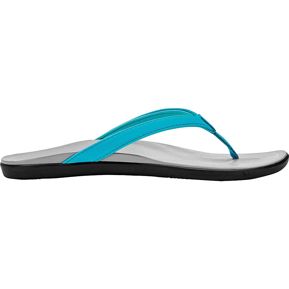OluKai Womens HoOpio Sandal 6 - Blue Crush/Pale Grey - OluKai Womens Footwear - Apparel & Footwear, Women's Footwear
