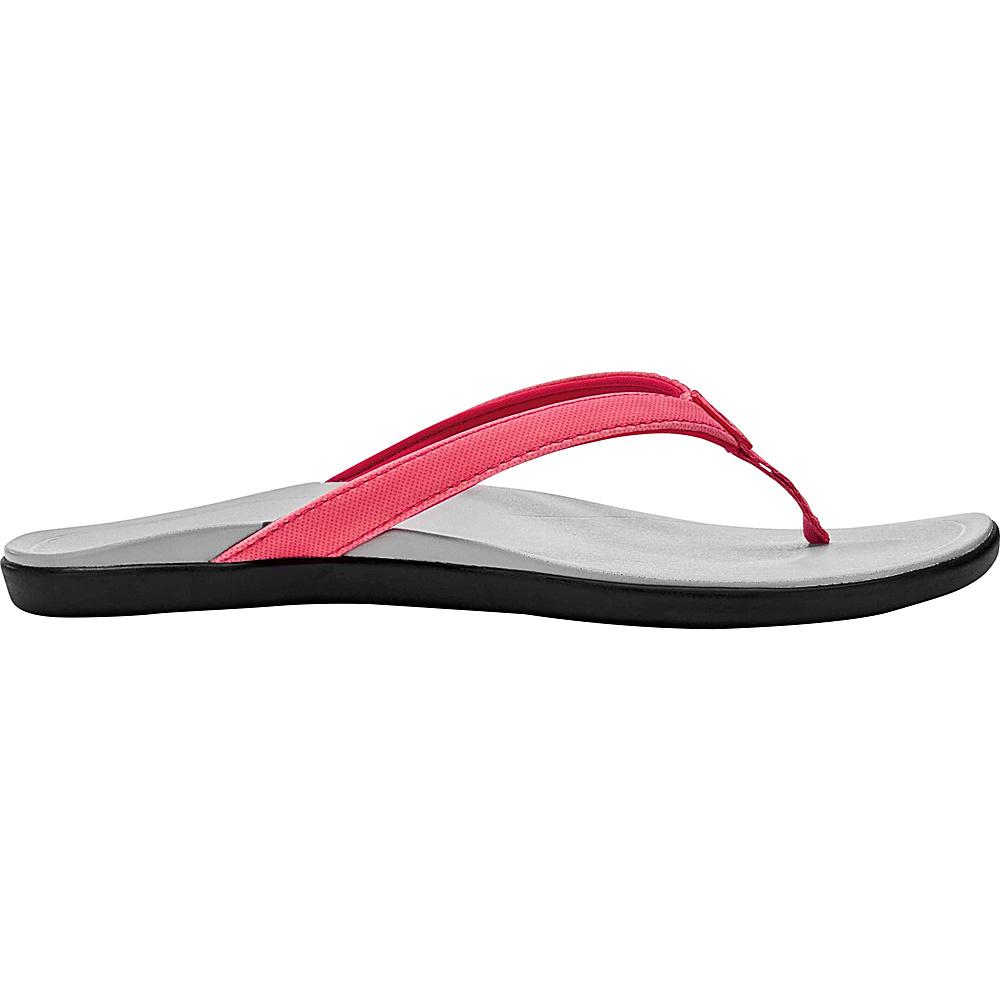 OluKai Womens HoOpio Sandal 5 - Guava Jelly/Pale Grey - OluKai Womens Footwear - Apparel & Footwear, Women's Footwear