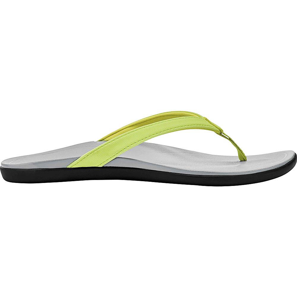 OluKai Womens HoOpio Sandal 5 - Pineapple/Pale Grey - OluKai Womens Footwear - Apparel & Footwear, Women's Footwear