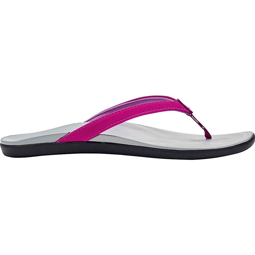 OluKai Womens HoOpio Sandal 6 - Grape Juice/Pale Grey - OluKai Womens Footwear - Apparel & Footwear, Women's Footwear